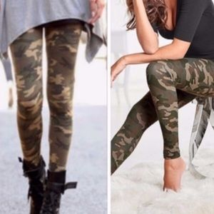 Camo Leggings Camouflage Leggings OS One Size